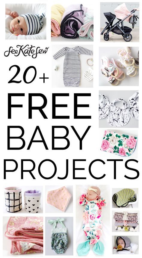 20+ FREE baby sewing projects! - see kate sew #sewingprojects