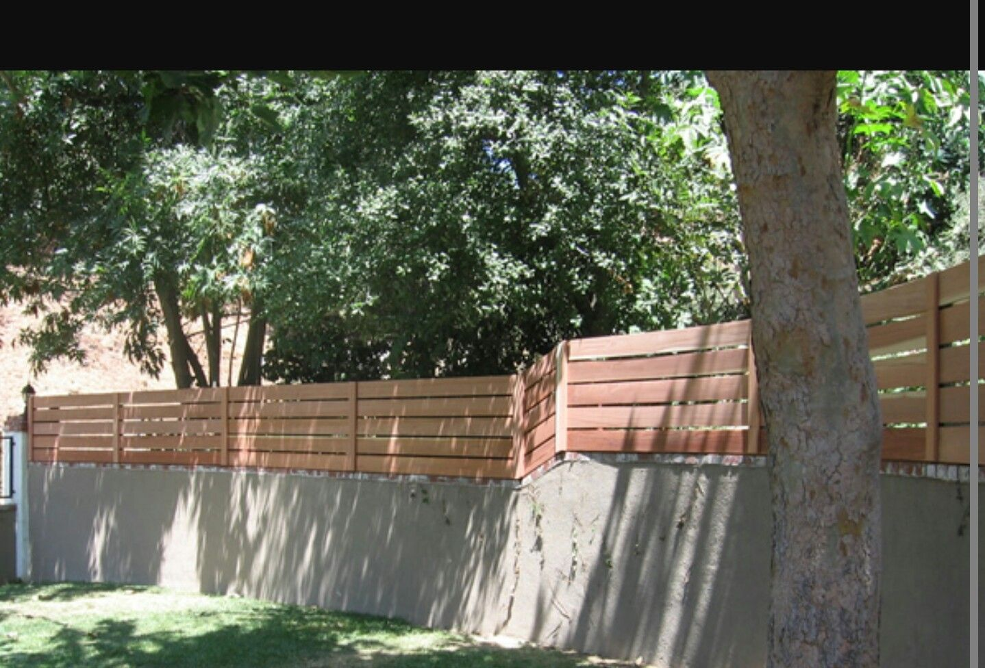 Block wall, fence toppers Landscaping retaining walls