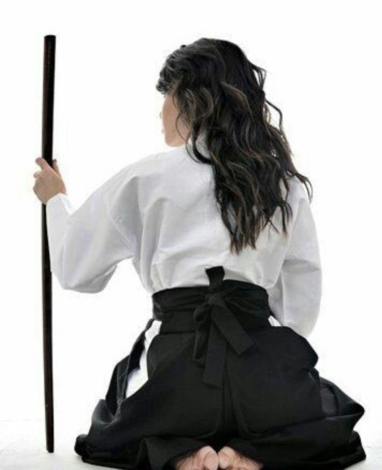 Arts Martiaux Kendo Aikido Hakama Noir