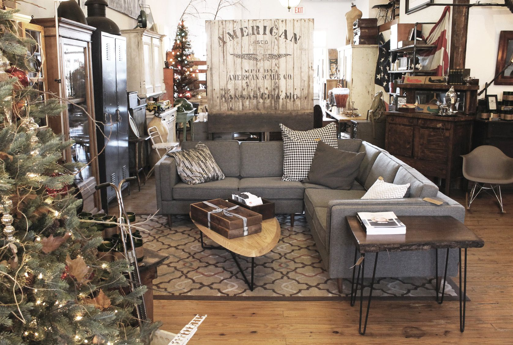 rustic furniture adelaide. A Cozy, Rustic Holiday Setup By The Talented Team At Grayson Home That Shows Off Our Adelaide Bi-Sectional And Hull Coffee Table. Furniture H