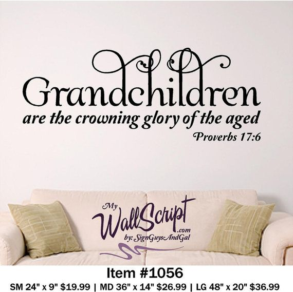 Grandchildren home wall decal, picture wall decal, bible ...