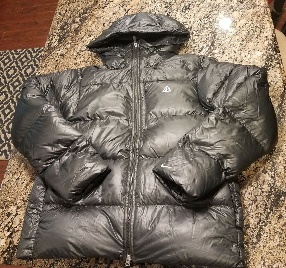 Nike Acg Down 800 Puffer Jacket Mens Large L Coat 332480 010 Msrp 250 Nike Acg Mens Jackets Puffer Jackets [ 936 x 1000 Pixel ]