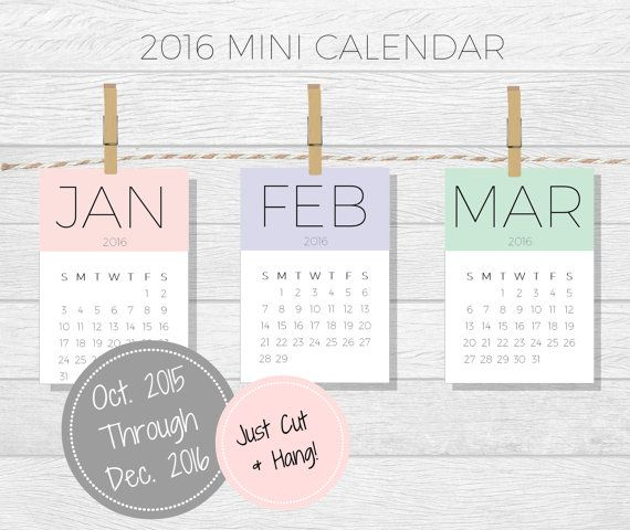 this mini calendar is too cute for words its perfect on a small