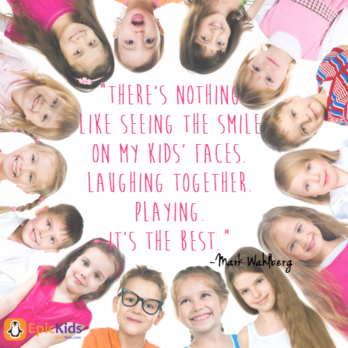 There is nothing like seeing the smile on my kid's faces. Laughing together. Playing. It's the best. EpicKids