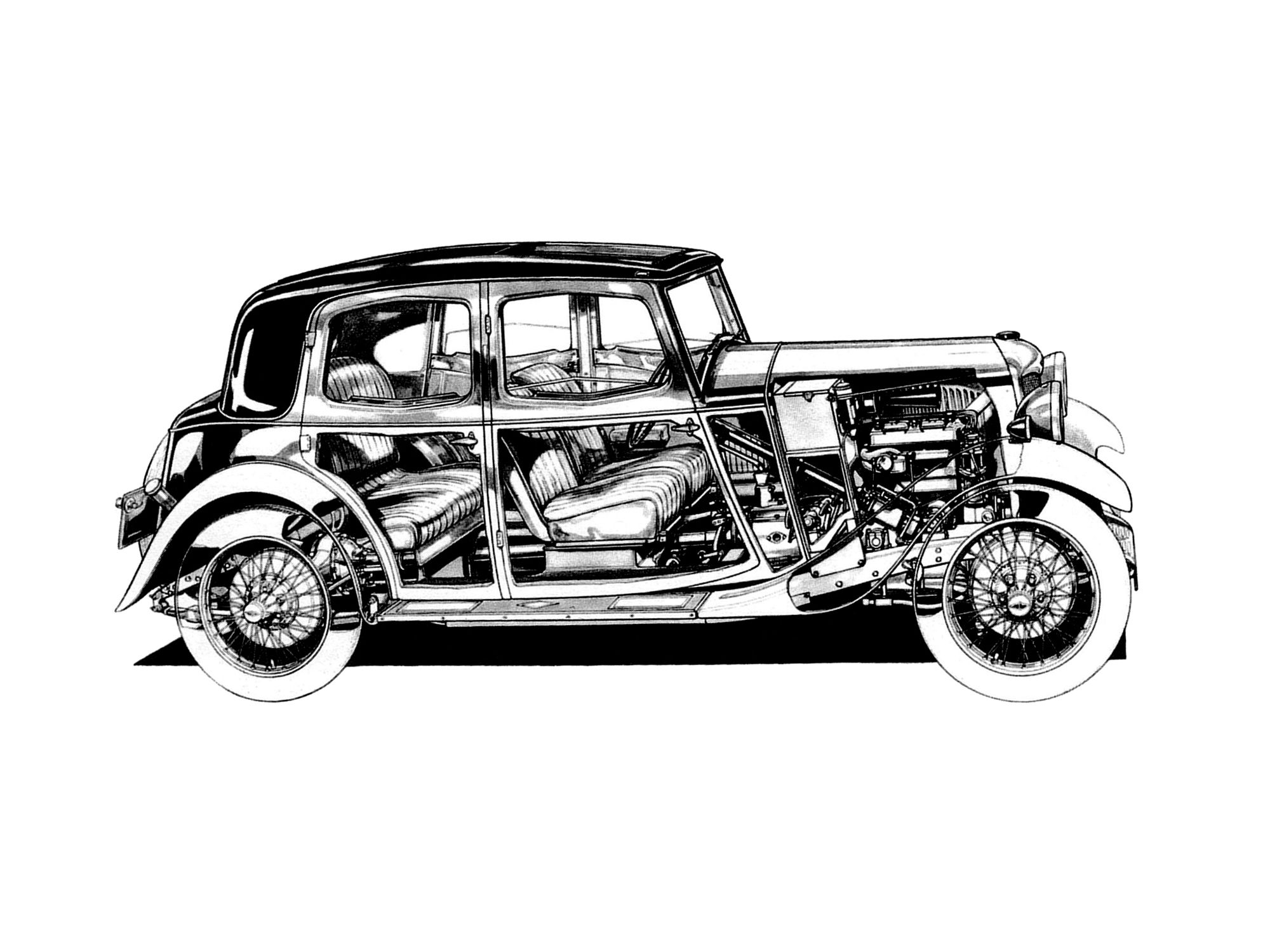 Mercedes benz 280 ge swb w460 1979 01 1990 pictures to pin - 1954 58 Bristol 405 Saloon Illustrated By Max Millar Cutaway Line Art Line Cutaway And Technical Illustrations Pinterest Bristol