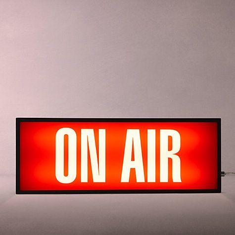 On Air LED Neon Bar Sign Music Studio Recording Red Radio Listen light up dj man