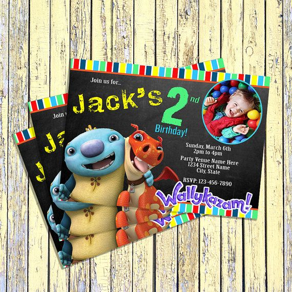Wallykazam Birthday Invitation Digital File UPrint By