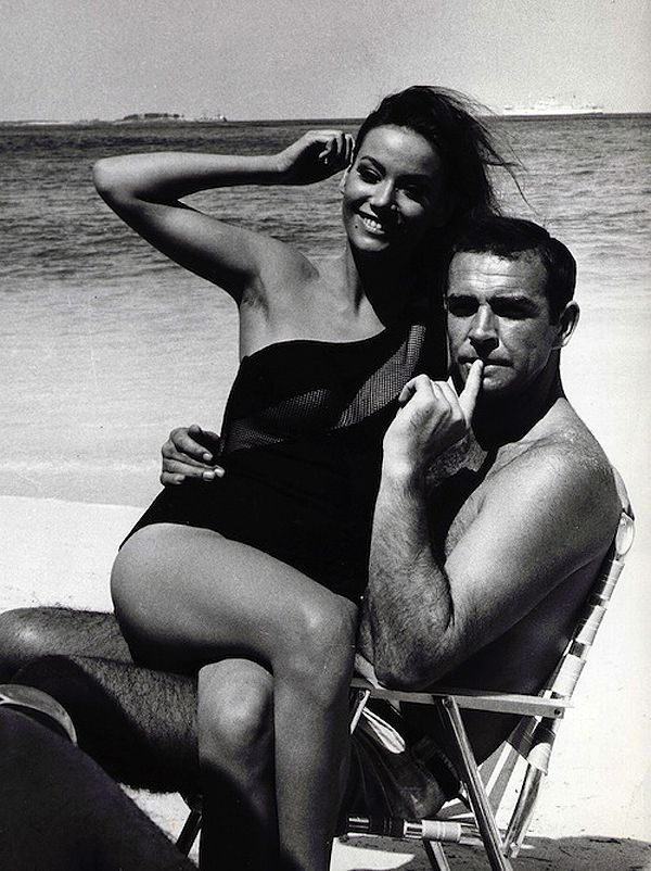 Sean Connery with Claudine Auger. It's good to be Bond