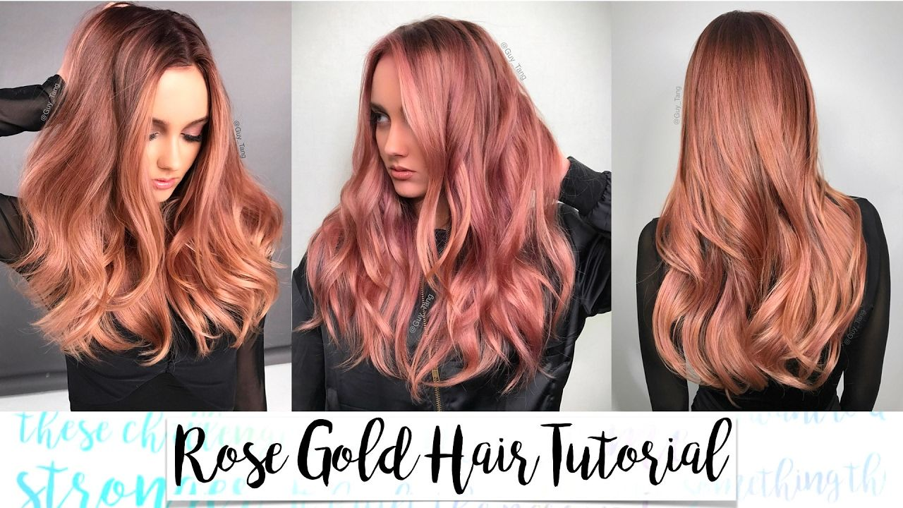 Rose Gold Hair Tutorial Youtube Hair Color Rose Gold Rose
