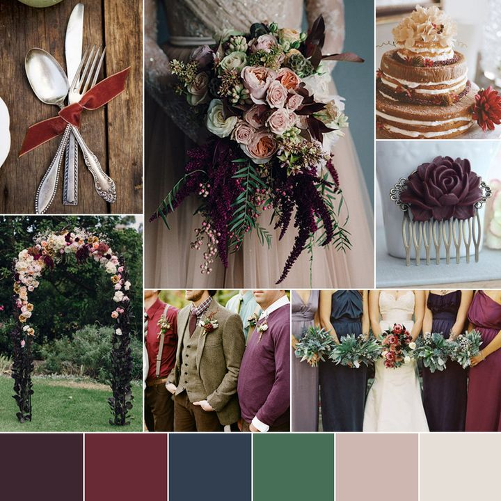 Yule colours for fall or winter wedding