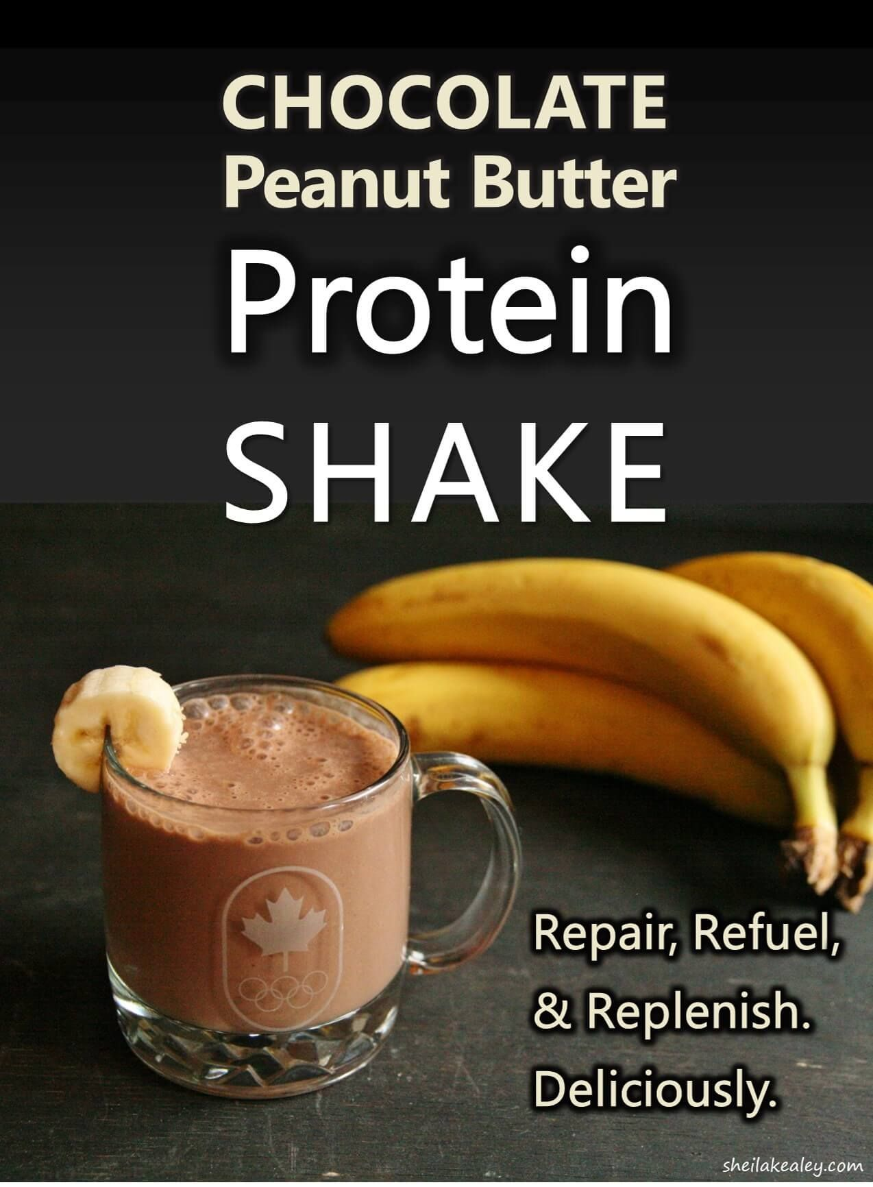 Chocolate peanut butter protein shake protein smoothies