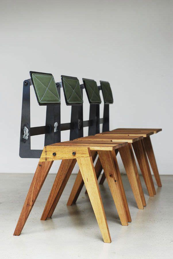 Chaise Bauhaus Design Bois Récupérée Acier De Feuillus En sQCthrdx
