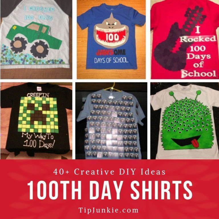 40+ 100 Days of School Shirt Ideas You'll Love to Make! #100daysofschoolshirt This list of 100 days