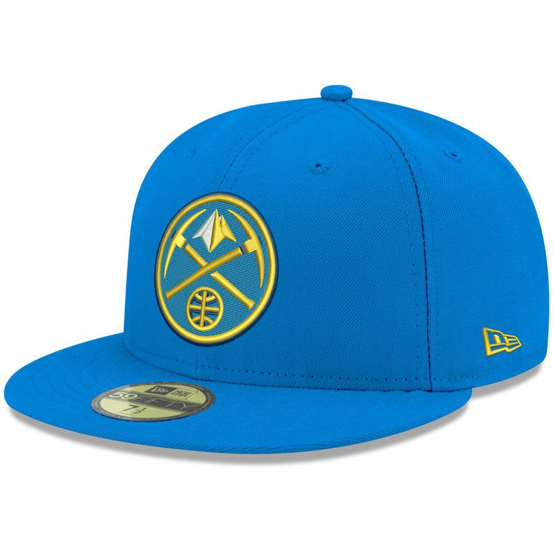8576c089aa2 Denver Nuggets New Era Official Team Color 59FIFTY Fitted Hat - Blue ...