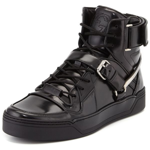 Gucci Spur Tennis Leather High-Top