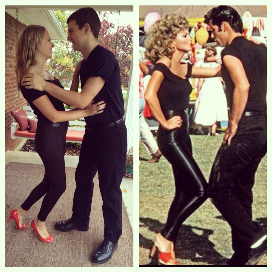 couples halloween costumedanny and sandy from grease