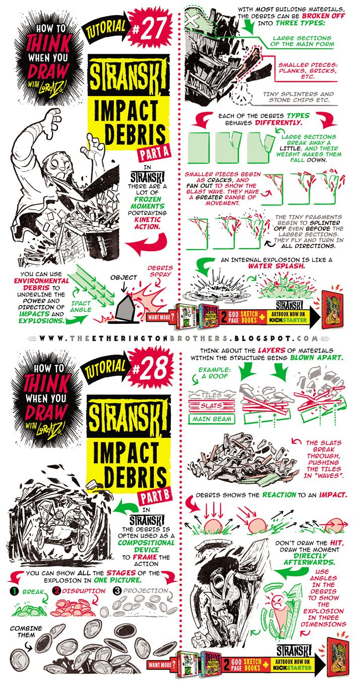 How to Draw IMPACT DEBRIS EXPLODE DAMAGE tutorial by ...