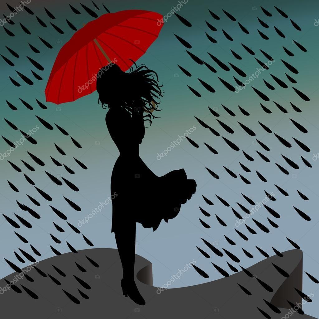Image Result For Sketch Of Black Woman Walking In The Rain Mujer Bajo La Lluvia Silueta De Mujer Niño Bajo La Lluvia
