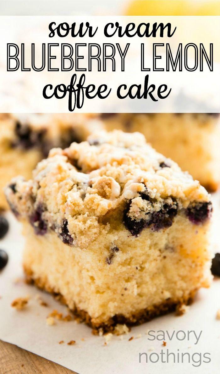 사워크림 블루베리 레몬 커피 케이크