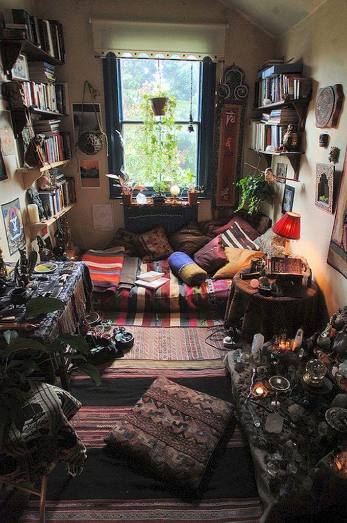 54+ Comfy Hippie Bohemian Bedroom Decor Ideas