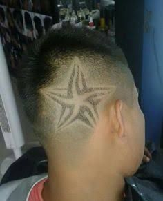 Cortes de cabello con disenos estrellas