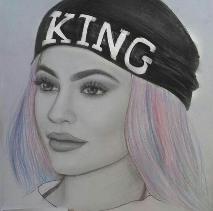 Kylie Jenner Drawing ♡ Art ♡ Kylie Jenner Drawing