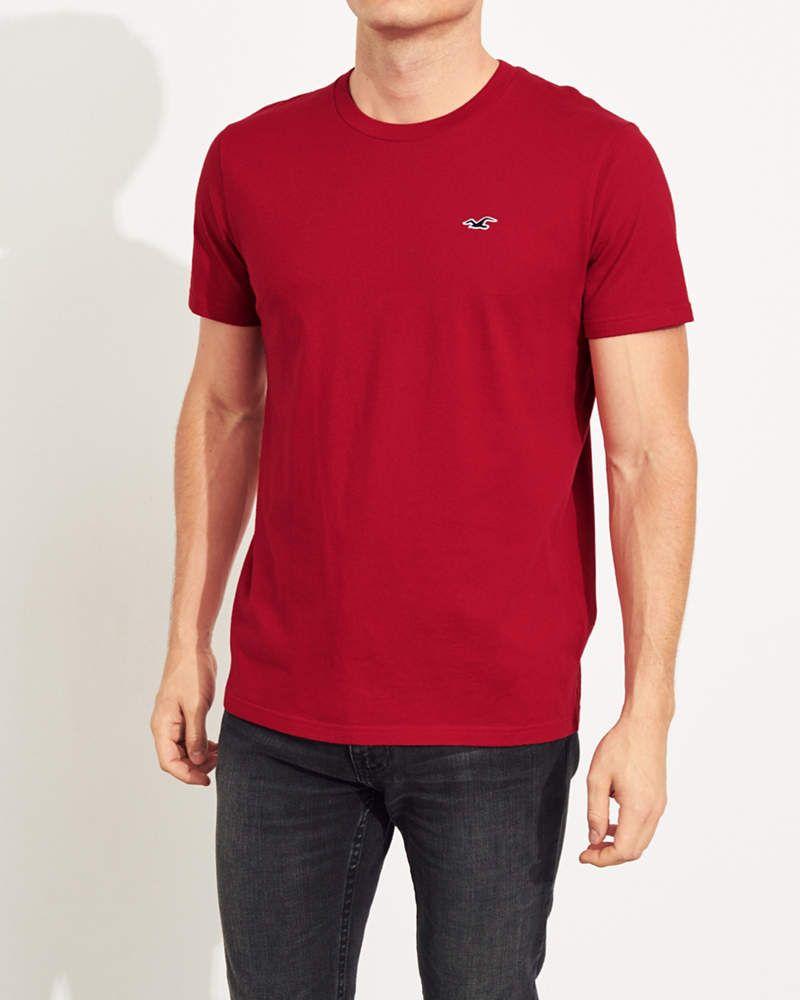 Guys Must Have Crewneck T Shirt Guys Tops Hollisterco Com Hollister Shirts Shirts T Shirt