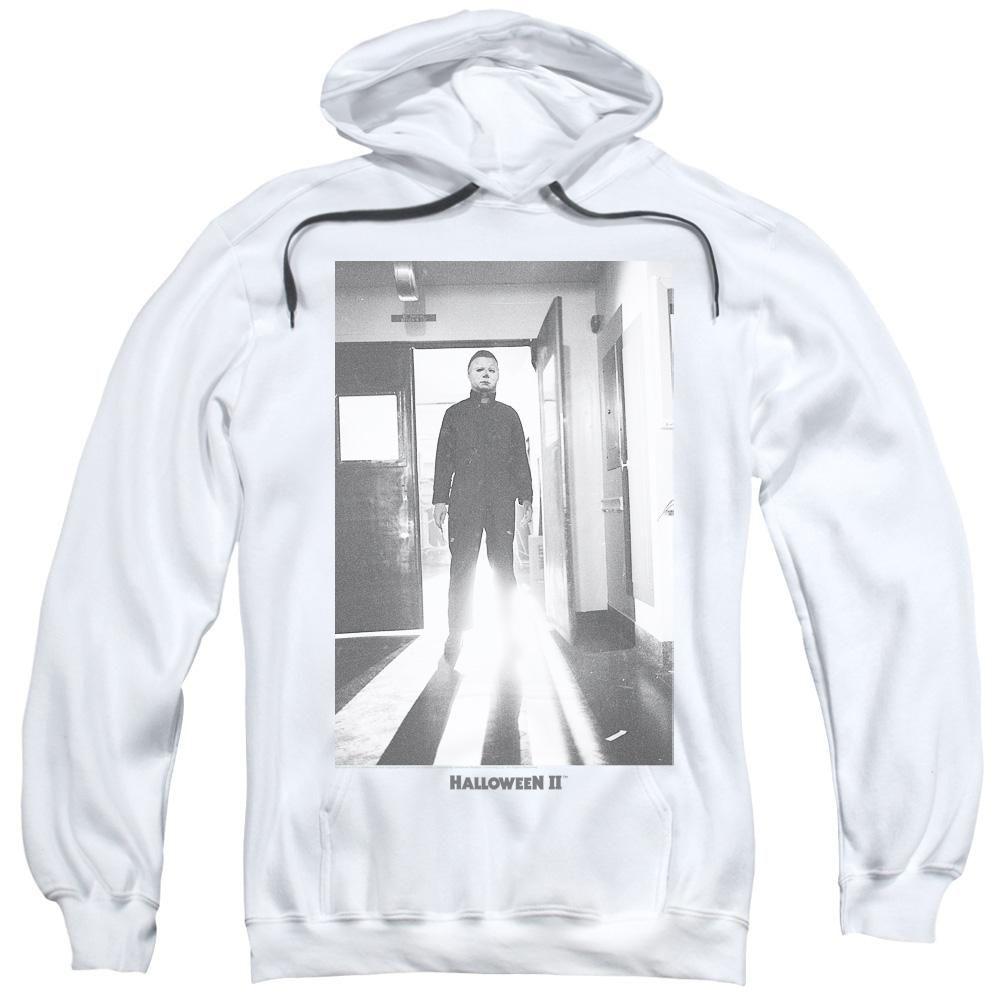 Halloween Hoodie Michael Myers in Doorway White Hoody