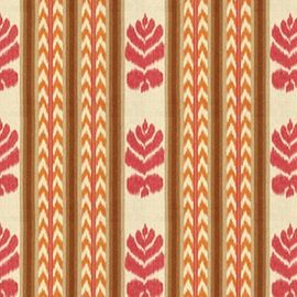 Hommage Collection   Chenonceaux PinkKumquat  Floral, Prints, Linen, Fabric by…