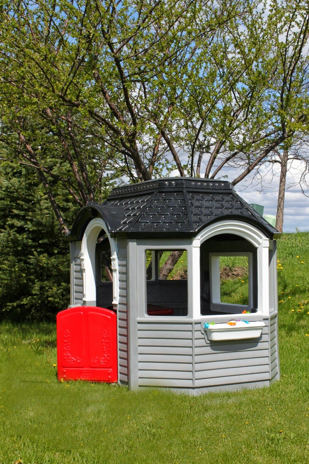 all things DIY little tikes playhouse makeover. Little