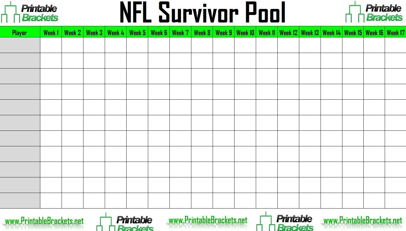 Nfl Survivor Poolhome  Sports Templates