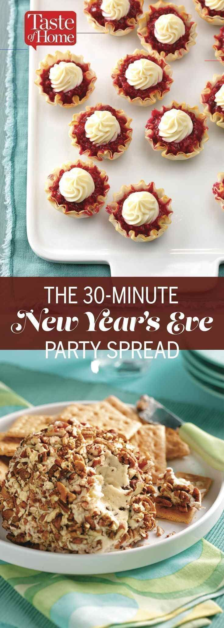 newyearsevepartyideasfood in 2020 New years eve snacks