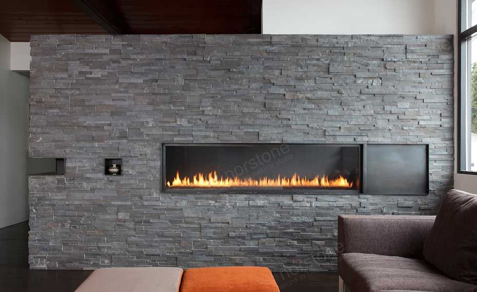 Perfect Stack Stone Fireplace Natural Stacked Stone Veneer