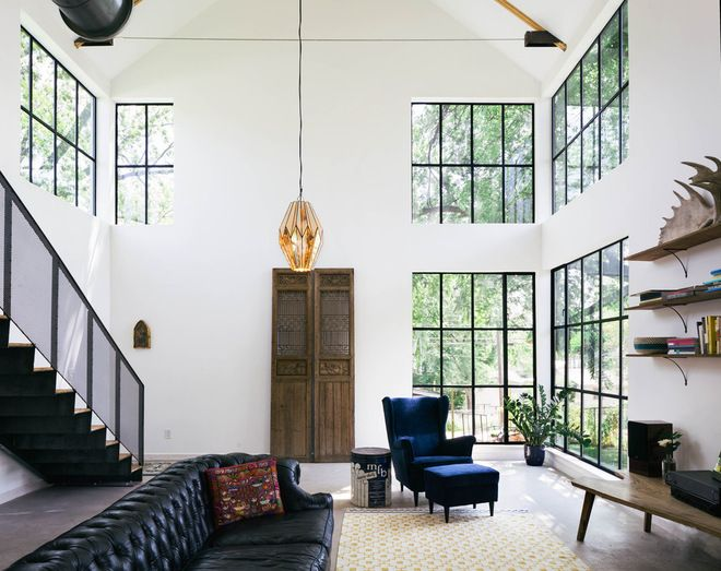 Farmhouse Living Room by PAVONETTI Office of Design