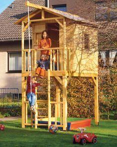 bauplan spielhaus auf stelzen kletterturm pinterest stelzen spielhaus und baumhaus. Black Bedroom Furniture Sets. Home Design Ideas