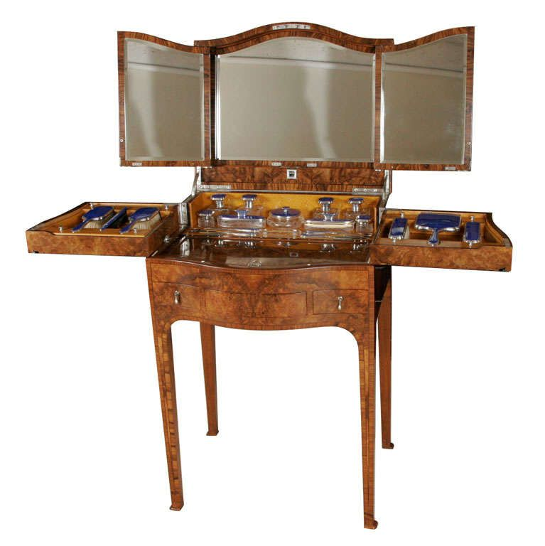 Webb Furniture Dresser With Mirror: A Superb Art Deco Dressing Table By Mappin And Webb. The