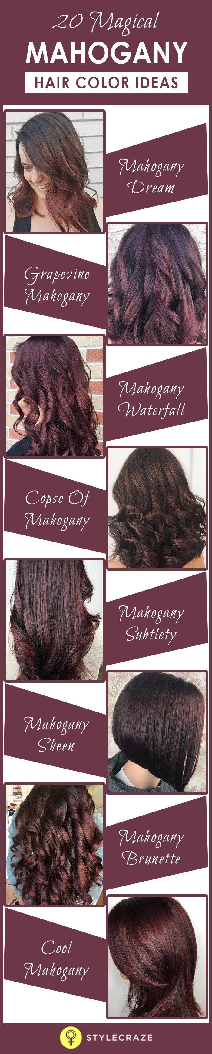 20 Magical Mahogany Hair Color Ideas