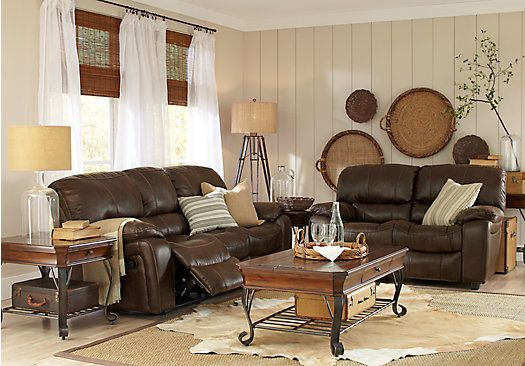Picture Of Cindy Crawford Home Alpen Ridge Brown 5 Pc Living Room Amusing Tan Living Room Collection Inspiration