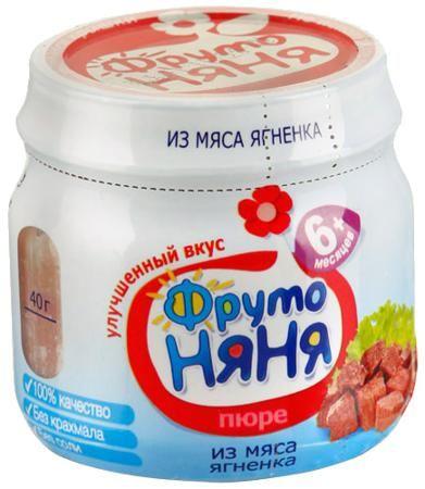 ФрутоНяня Пюре из ягненка с 6 мес. 80 г  — 100р. ---------------  ФрутоНяня Пюре из ягненка является главным источником полноценного животного белка, хорошо усвояемого железа, витаминов группы В. Также в мясе содержится большое количество солей калия, фосфора, магния.  Пюре из мяса ягненка богато калием и магнием. Мясо ягненка содержит большое количество фтора, что способствует повышению устойчивости эмали зубов к кариесу. Особенность жирового состава молодой баранины – небольшое содержание…