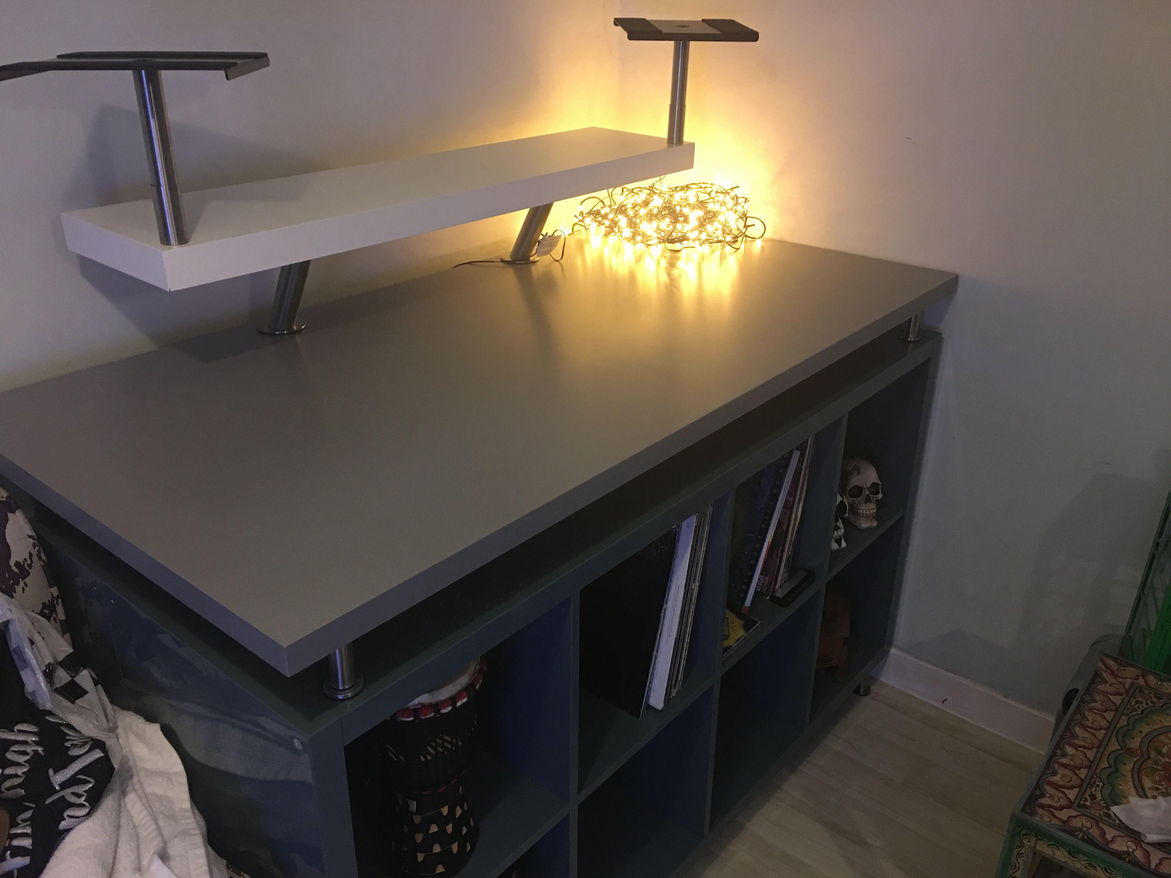 Ikea Kallax Dj Table Dj Room Dj Table Dj Equipment For Sale