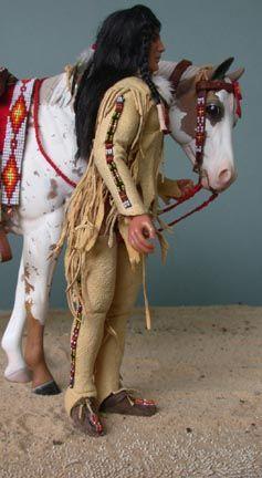 Blackfoot male rider doll
