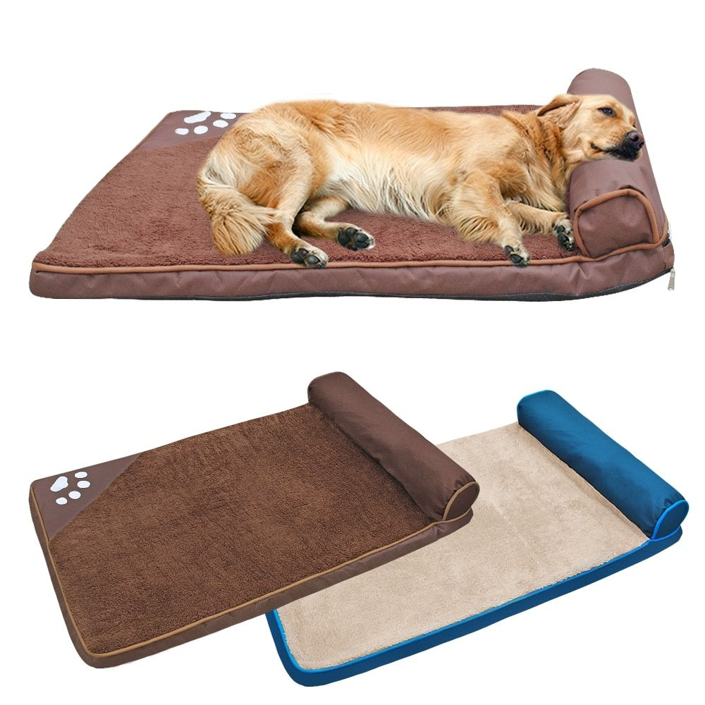 Large Dog Bed Mat Winter Warm Dog Mats Soft Square Cushion