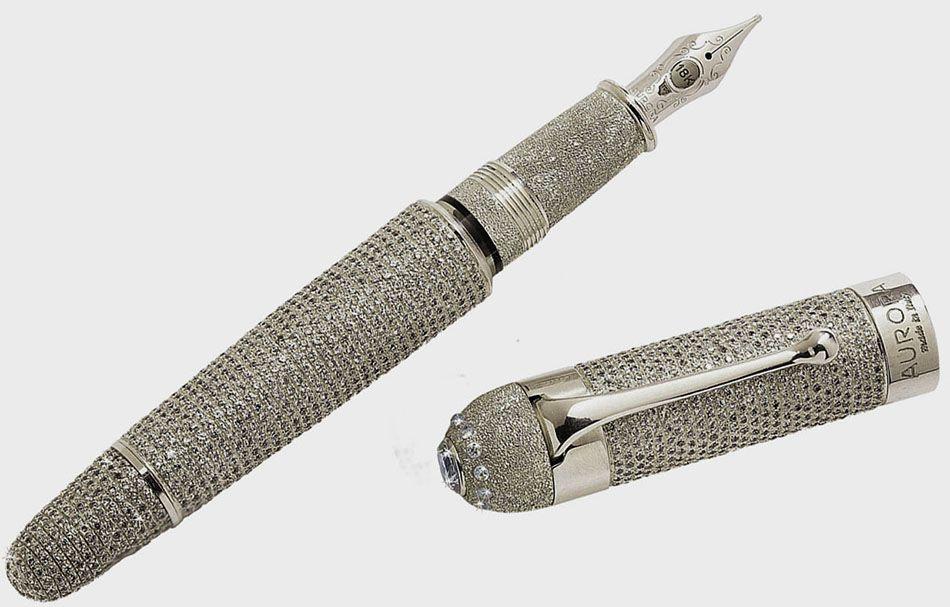 Most Expensive Pen In The World 1 Aurora Diamante Fountain
