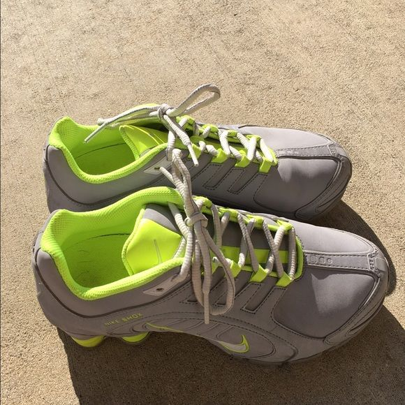 2decd9c752c NIKE SHOX NZ WOMENS New only WORN 1 time Neon Green and Gray Size 7.5 no  longer available no wear Nike Shoes Athletic Shoes