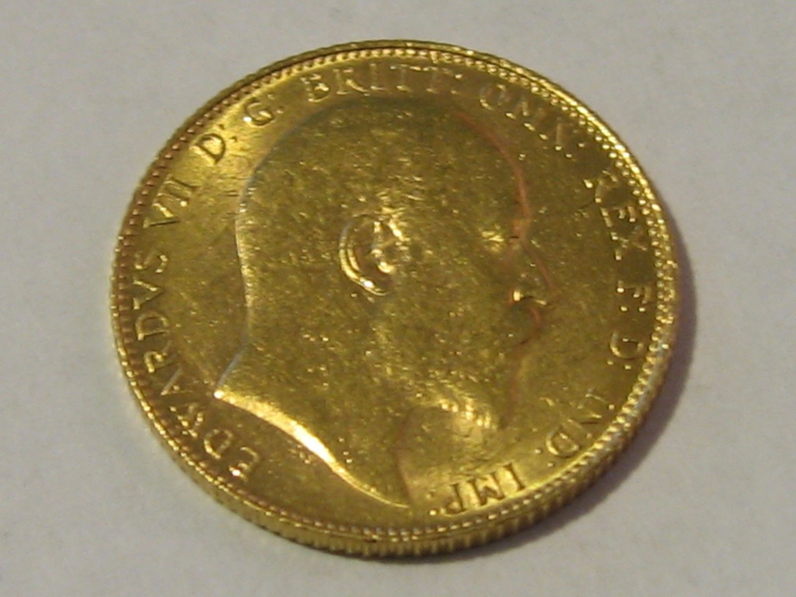 1906 1/4 oz BRITISH GOLD SOVEREIGN KING EDWARD VII, GOLD