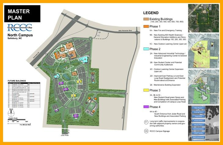 Rccc North Campus Map.Rowan Cabarrus Community College 2 Rccc Plan Master Plan