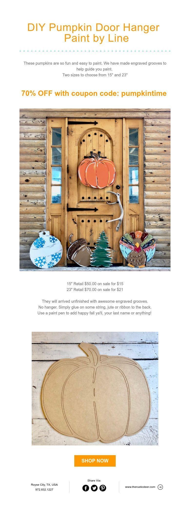 DIY Pumpkin Door Hanger Paint by Line sale fall #homedecor  #doorhangers #falldecor  #diypumpkins #pumpkindecor