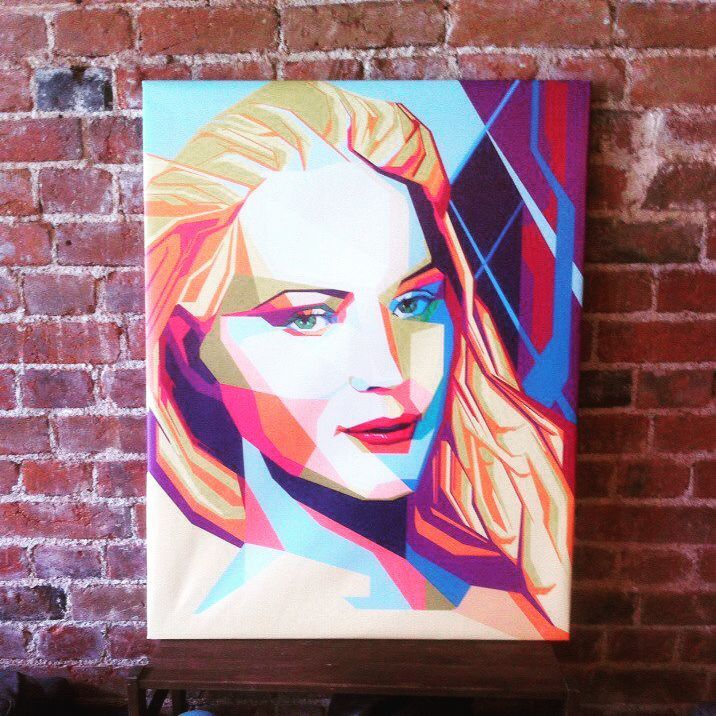 #wpap #color #girl #portrait A few days ago I finished WPAP under my @ultimate_ds brand