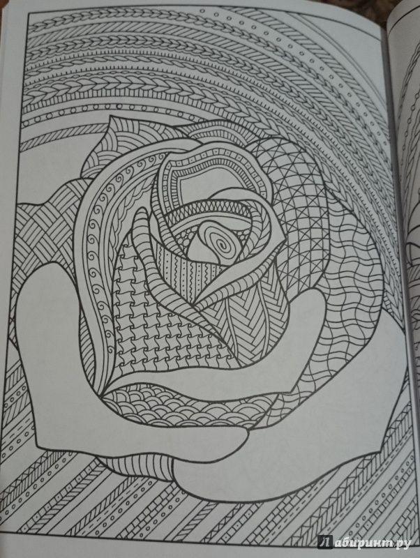 Иллюстрация 12 из 23 для Раскраска-зендудл. Цветотерапия. Чудесные цветы - Янина Миронова | Лабиринт - книги. Источник: Толмачева  Екатерина