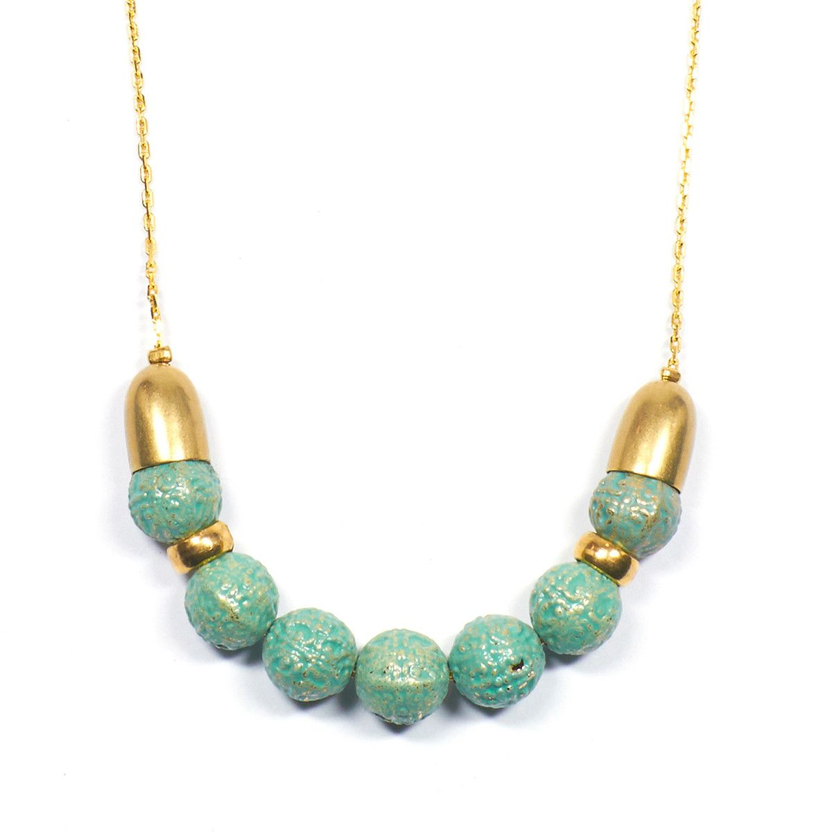 Kora Necklace Turquoise by Victoria Bekerman
